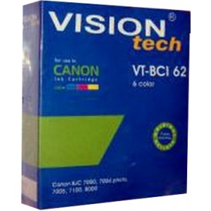 Canon BCI-62 6-color 63ml, Vision Tech kompatibil