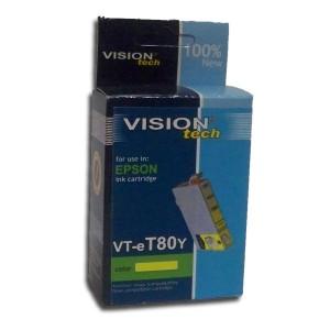 Epson T080-4 yellow 14ml, Vision kompatibil