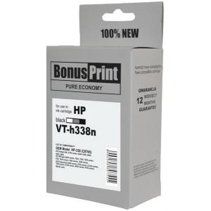 HP 338, black 18ml, BonusPrint kompatibilné
