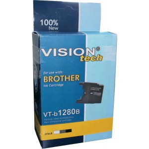 Brother LC-1280Bk black 28,5ml, Vision Tech
