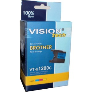 Brother LC-1280C cyan 19ml, Vision Tech