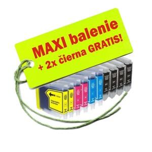 Kazety Brother LC-1000 / 970 8ks maxi set + 2 zadarmo