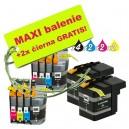 Kazety Brother LC-525 / 529 XL 8ks maxi set + 2 zadarmo