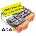 Kazety Canon CLI-526 / PGI-525 8ks maxi set + 2 zadarmo