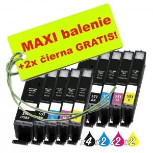 Kazety Canon CLI-551 / PGI-550 8ks maxi set + 2 zadarmo