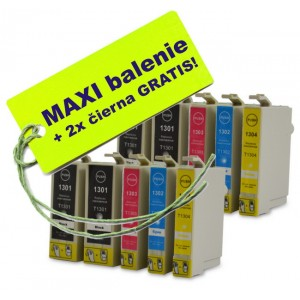 Kazety Epson T130 XL 8ks maxi set + 2 zadarmo