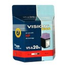 Kompatibilné s HP 20, Vision Tech, black 40ml