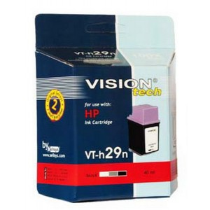 HP 29, black 42ml, Vision Tech kompatibilné