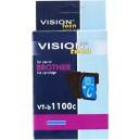 Kompatibilné s Brother LC-1100C, Vision, black 13ml