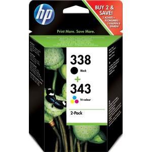 Multipack HP 338 (black) + HP 343 (color)