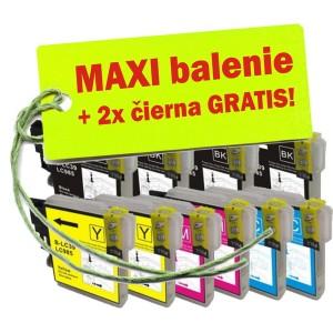 Kazety Brother LC-985 XL 8ks maxi set + 2 zadarmo