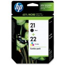 Multipack HP 21 (black) + HP 22 (color) SD367AE