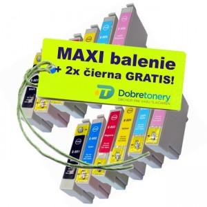 Kazety Epson T080 12ks maxi set + 2 zadarmo